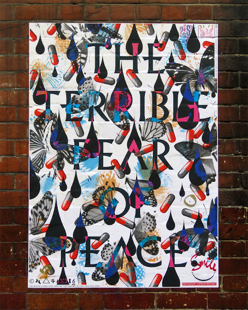 The Terrible Fear of Peace by Smile, Archer Street, Soho, London