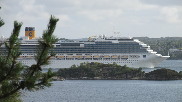 Cruise ship Costa Favolosa in Bergen, Norway