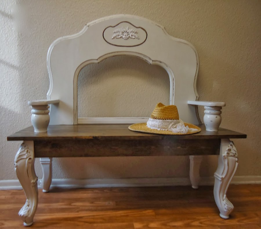 Shabby Chic Accent Bench - SOLD
