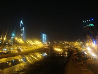 Vue de la rivière de Ho Chi Minh-Ville