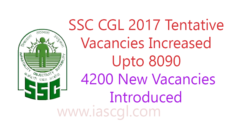 SSC CGL2017: Number of Vacancy Increased upto 8090, apx 4200 new vacancies introduced