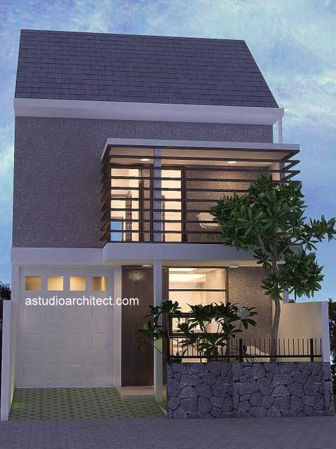 Desain rumah modern kisi-kisi