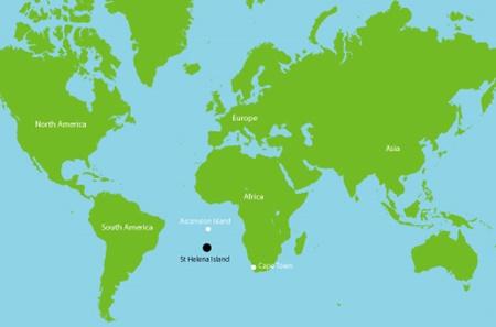 St. Helena tam olarak okyanusun neresinde