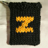 Knitted Z, monogram Z, gift card holder