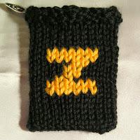 Knitted Z, monogram Z, gift card holder