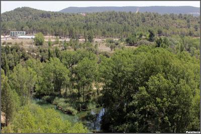 Las Juntas. Desembocadura del Río Escabas en el Río Guadiela. Vista general