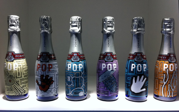 Pommery Champagne Cube Westfield Sydney, Pommery POP Aboriginal Art Limited edition by Sarrita King, Exclusive Picture from Pommery!