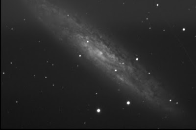 Finest NGC Sculptor galaxy in luminance east of meridian