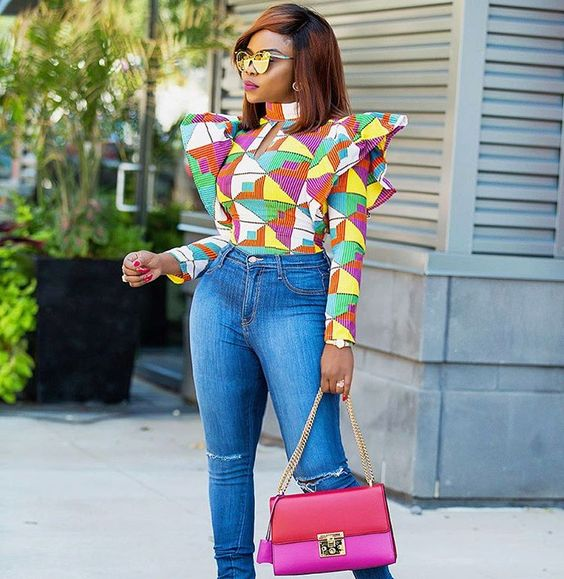 db9fe743382a8f The Latest Ankara Tops With Jeans Style