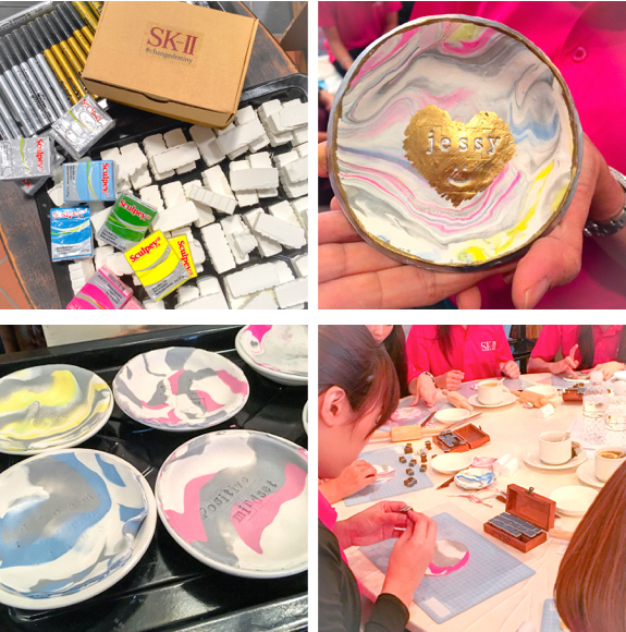 Craft Workshop: Making Marbled Clay Dishes with Beauty Consultants