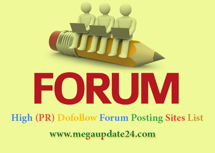 High (PR) Dofollow Forum Posting Sites List For Backlink Creator