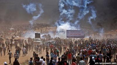 Bentrokan terjadi di sepanjang perbatasan jalur Gaza beberapa jam menjelang peresmian kedutaan AS di Yerussalem