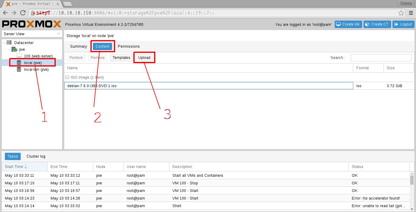 My Bloggg: Cara Upload File ISO Pada Proxmox VE