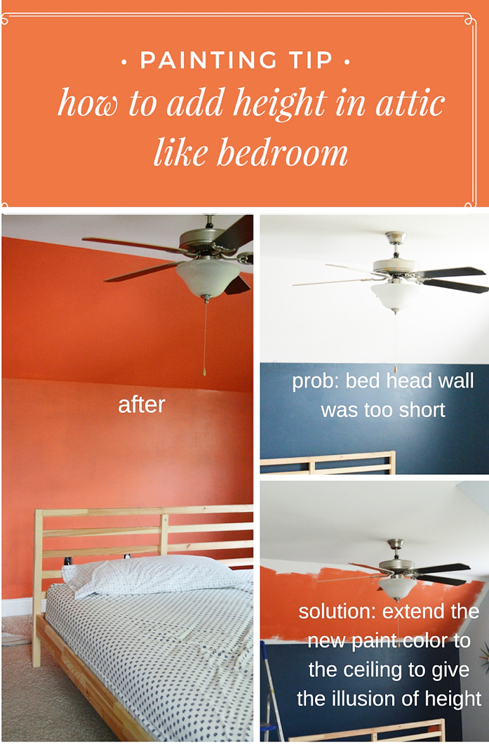 Painting Tip to Add Height to Bed Head Wall