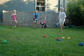 Children playing Bocce Ball