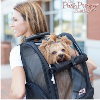 ROLL AROUND TRAVEL DOG CARRIER BACKPACK IN RED