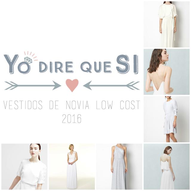 Vestidos de novia low cost para bodes de 2016.