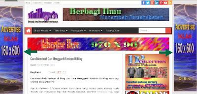 pasang iklan di kiri kanan blog