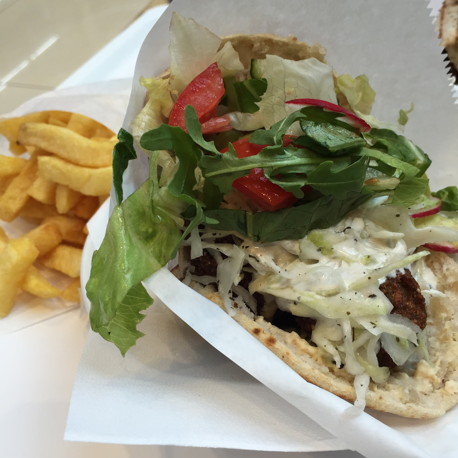 Boussi Falafel at the Mall of Berlin