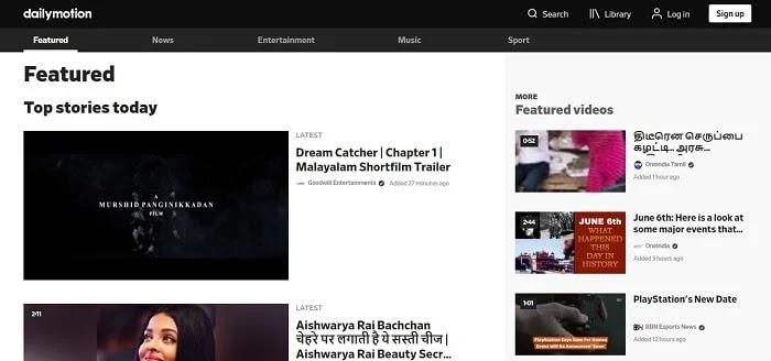 Dailymotion - Best YouTube alternatives