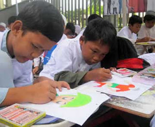 Pembelajaran Menggambar di SD