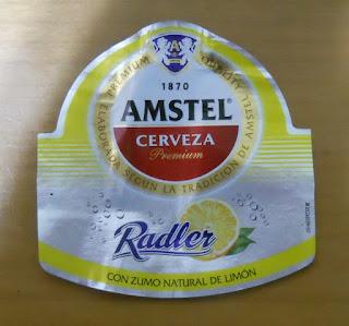 etiqueta de cerveza amstel radler