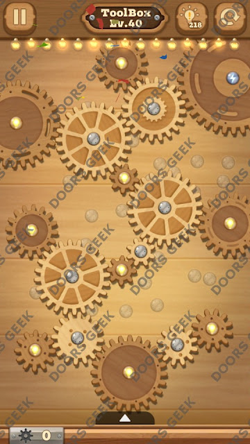 Fix it: Gear Puzzle [ToolBox] Level 40 Solution, Cheats, Walkthrough for Android, iPhone, iPad and iPod