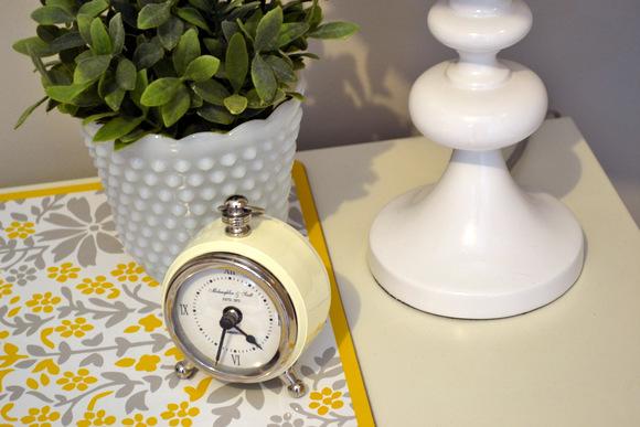 White Vintage Alarm Clock