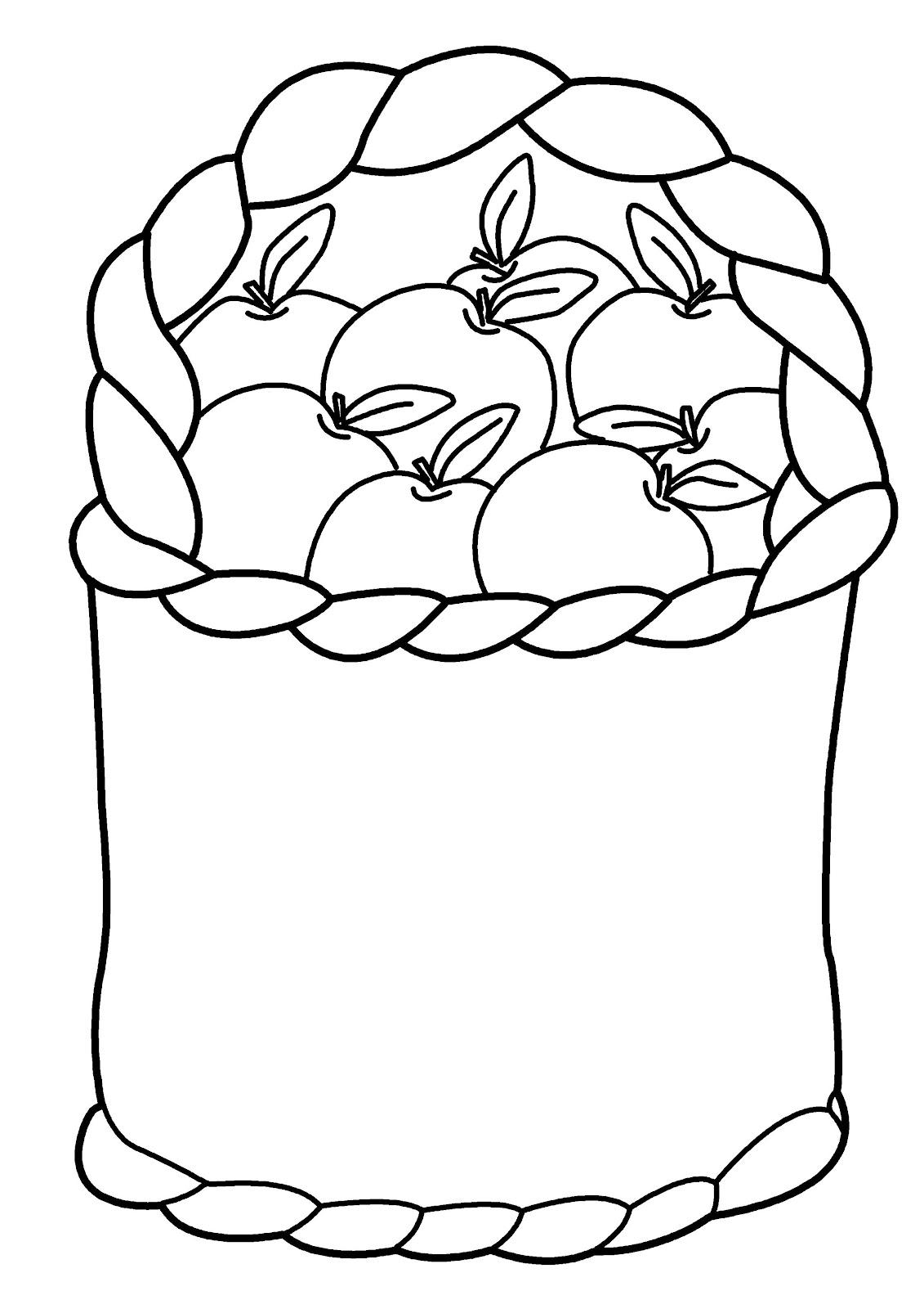 Meyve Sepeti Resmi Boyama üst Ev Boyama Sayfası