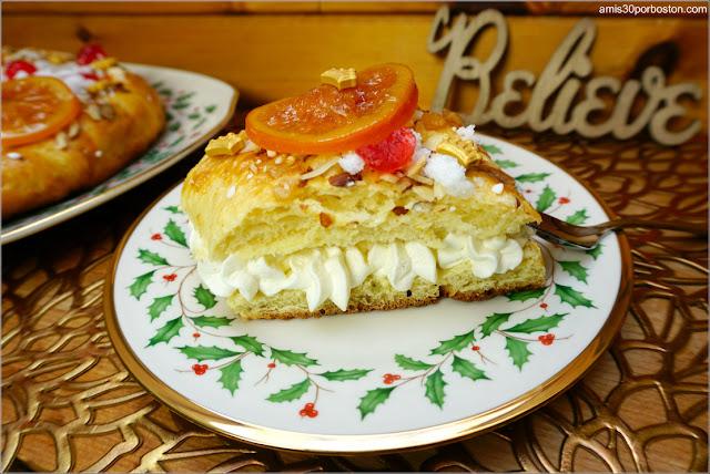 Porción del Roscón de Reyes con Nata Montada