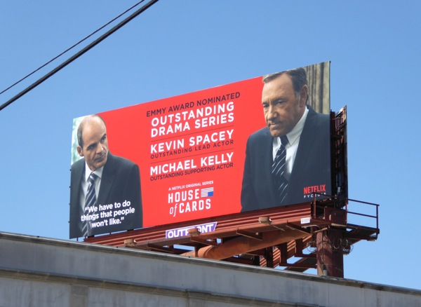 House of Cards Emmy 2015 nomination billboard