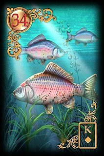Fish lenormand card , Fishes leormand oracle card