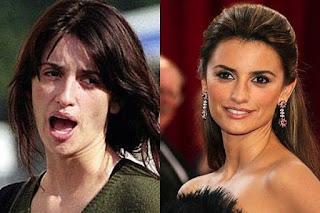 fotos de famosos antes e depois da maquiagem - penelope cruz