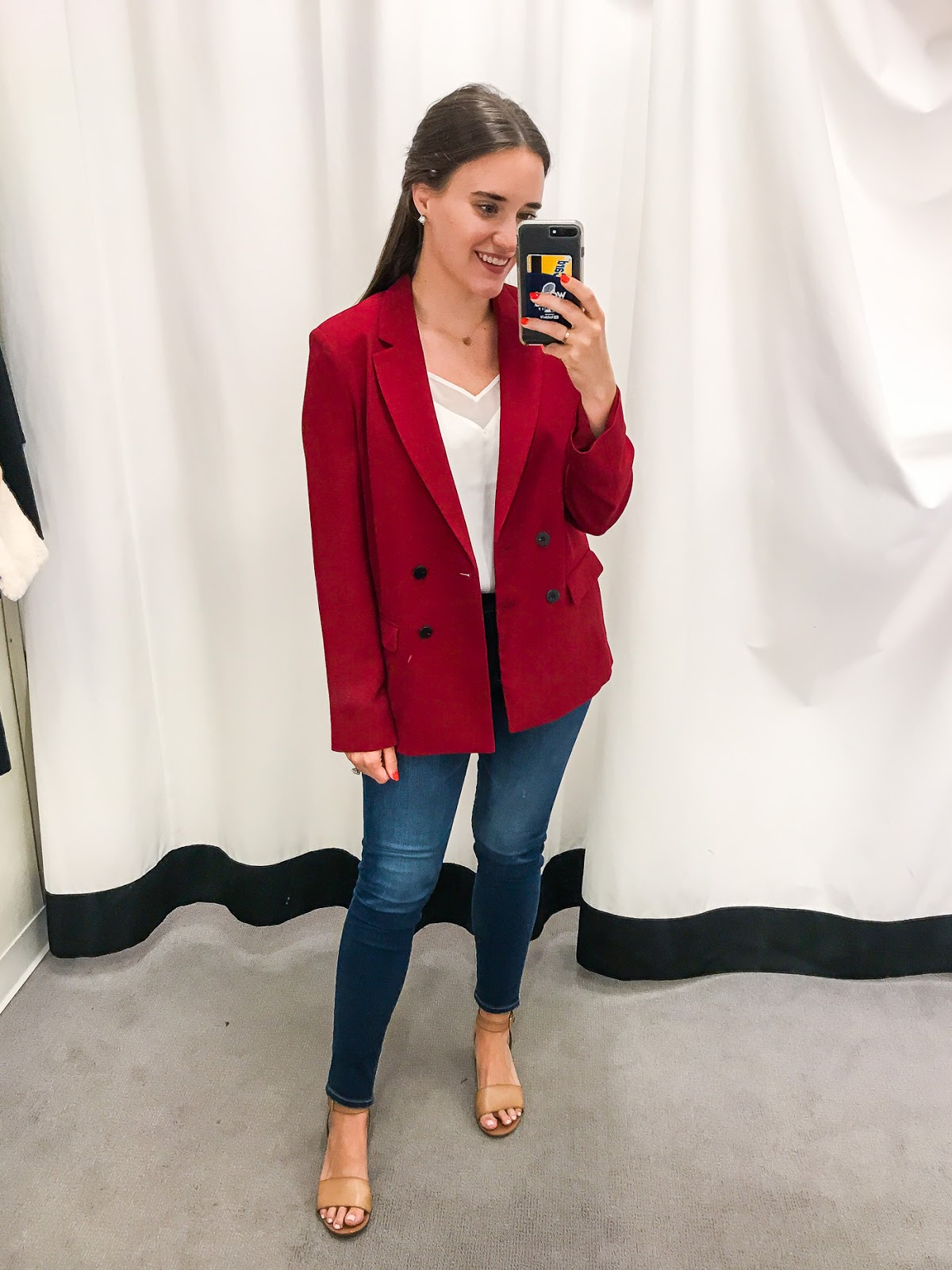 Nordstrom Anniversary Dressing Room Try On featured by popular New York fashion blogger, Covering the Bases