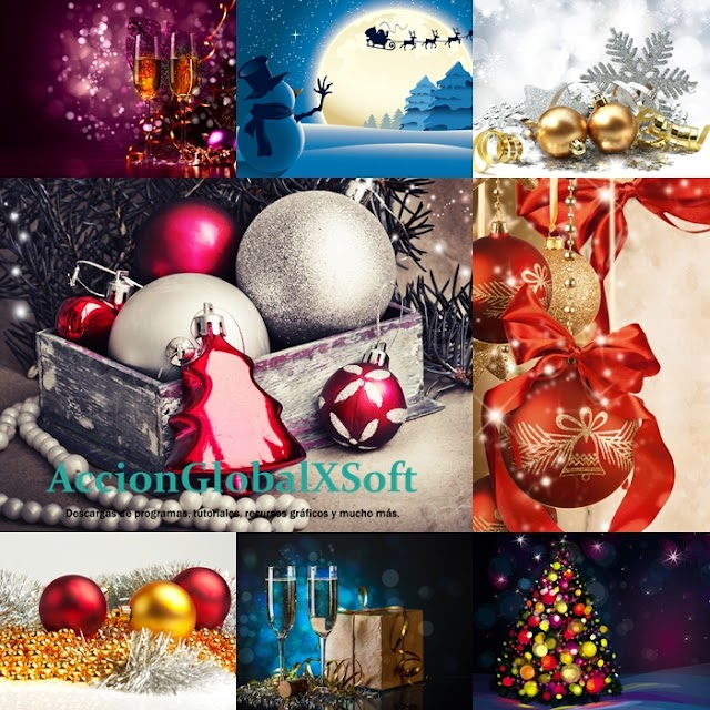 Wallpapers navideños HD - Pack 6