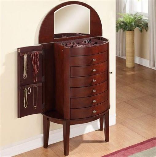 mahogany jewelry armoire