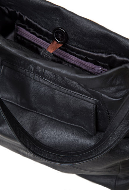 Nahkalaukun taskut