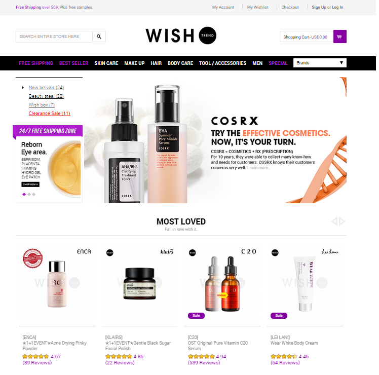 94129c30c5 However, it's always the same few brands selling in Hong Kong. Sometimes I  just want to find new brands to explore. I came across an online shop:  Wishtrend.