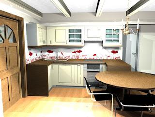 Hiša v Kranju - idejna zasnova za  kuhinjo.