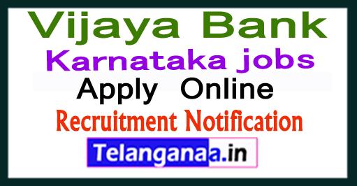 Vijaya Bank Recruitment Notification 2017 Apply