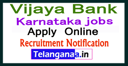 Vijaya Bank Recruitment Notification