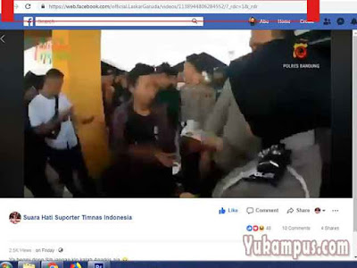 salin tautan video facebook pc