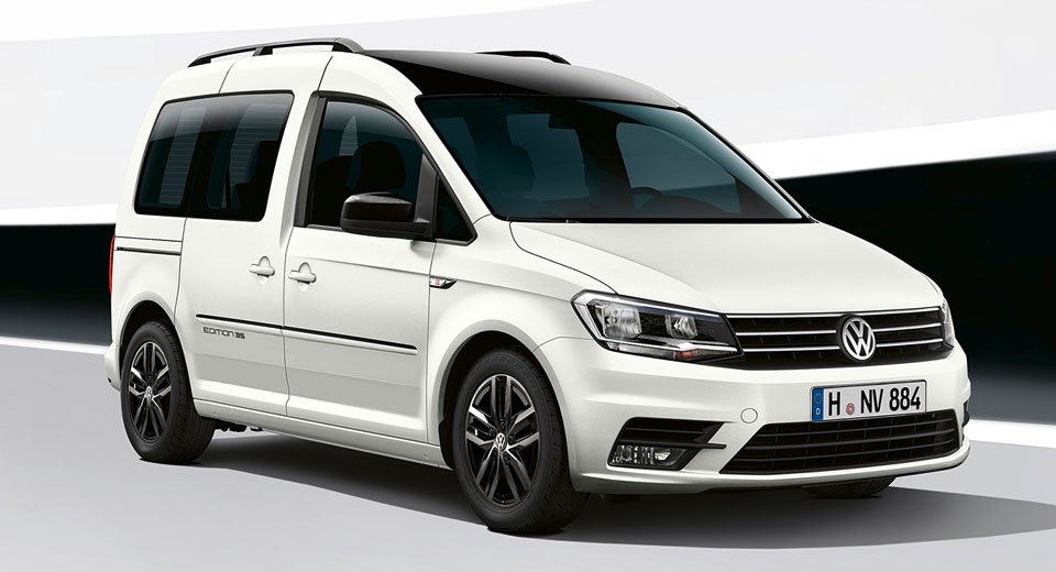 volkswagen rolling out caddy edition 35 at hannover commercial show. Black Bedroom Furniture Sets. Home Design Ideas