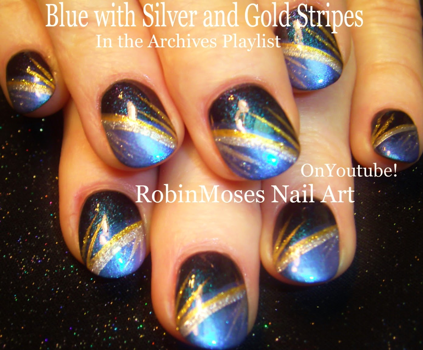 Nail Art by Robin Moses: Splatter Paint Nail Art Technique with Blue ...