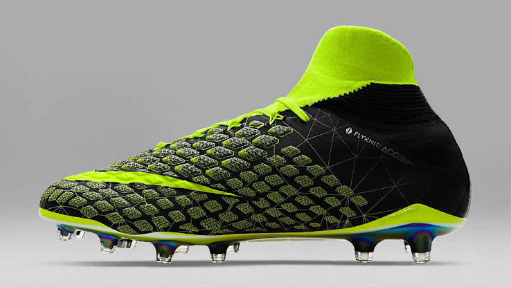 e858aacb2307 The motion capture wireframe graphics highlight the strike zone of the Nike  EA Sports Hypervenom Phantom III boot, which features a reflective Swoosh.