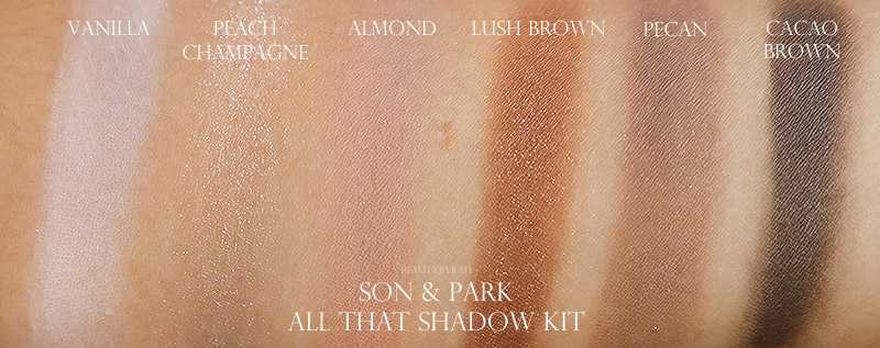 Son & Park All That Shadow Eyeshadow Palette Swatches