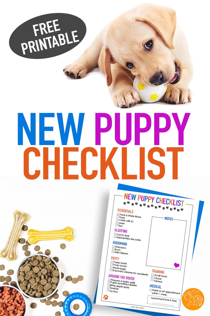 Everything you need for a new puppy in this FREE printable New Puppy Checklist! Whether you are adopting a puppy or an adult dog, dog moms need this handy checklist of must have pet supplies. #pets #dogs #newpuppy #puppy