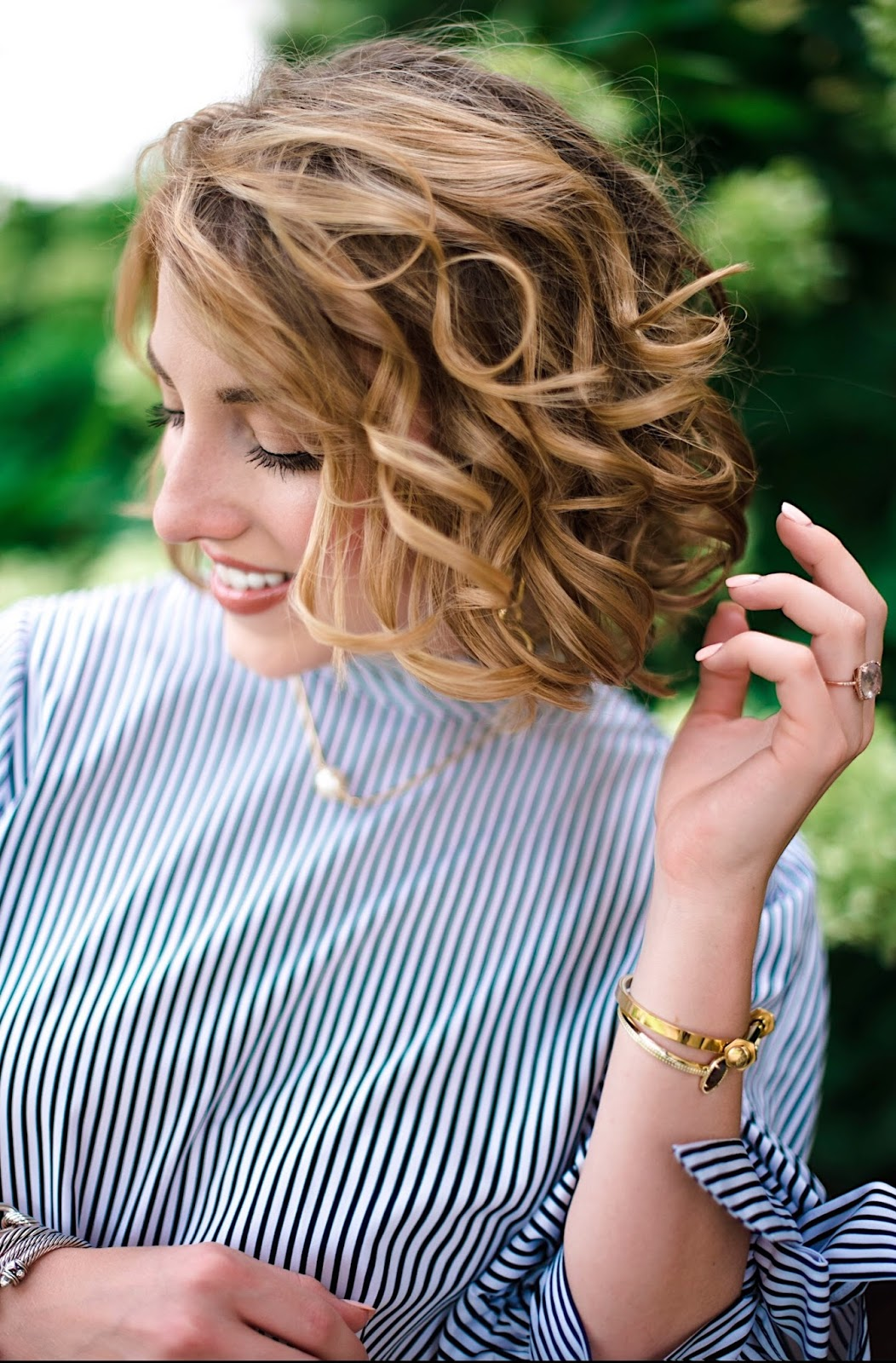 Curled Lob Hairstyle - Click through to see more on Something Delightful Blog!