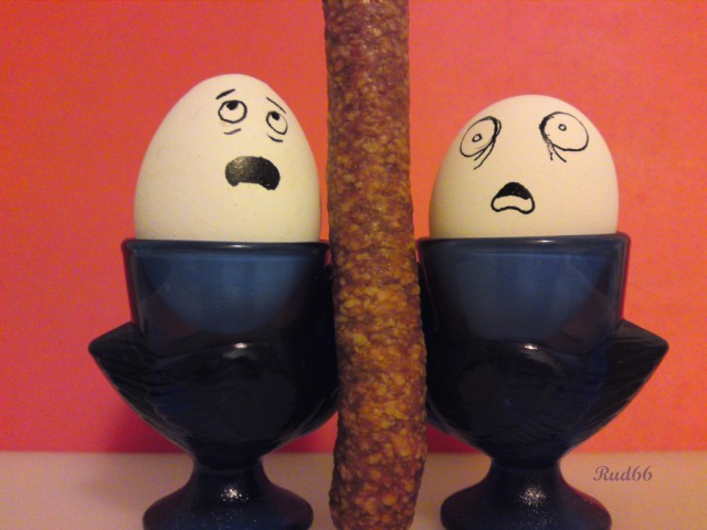 Picture Gallery Egg With Funny Face On The Egg Cup Stock
