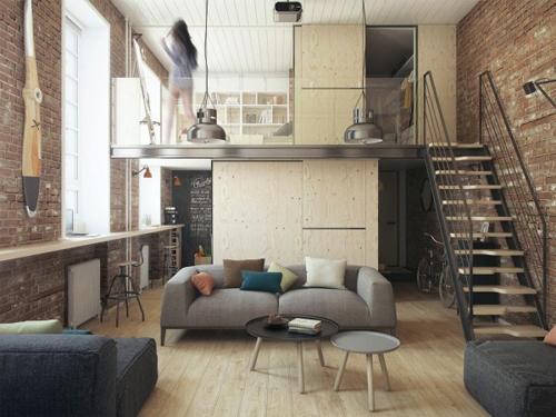 sàn gác giả được đúc bằng tấm xi măng cemboard và trải thảm simili trải sàn giả gỗ